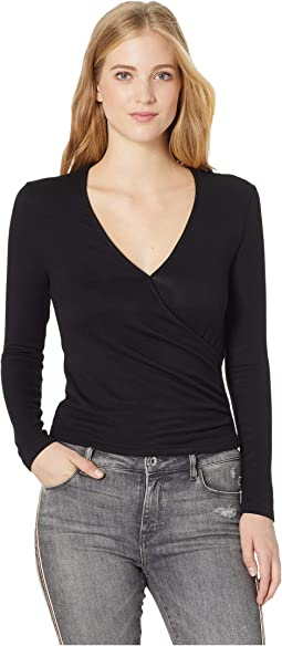 Erick Faux Wrap Knit Top