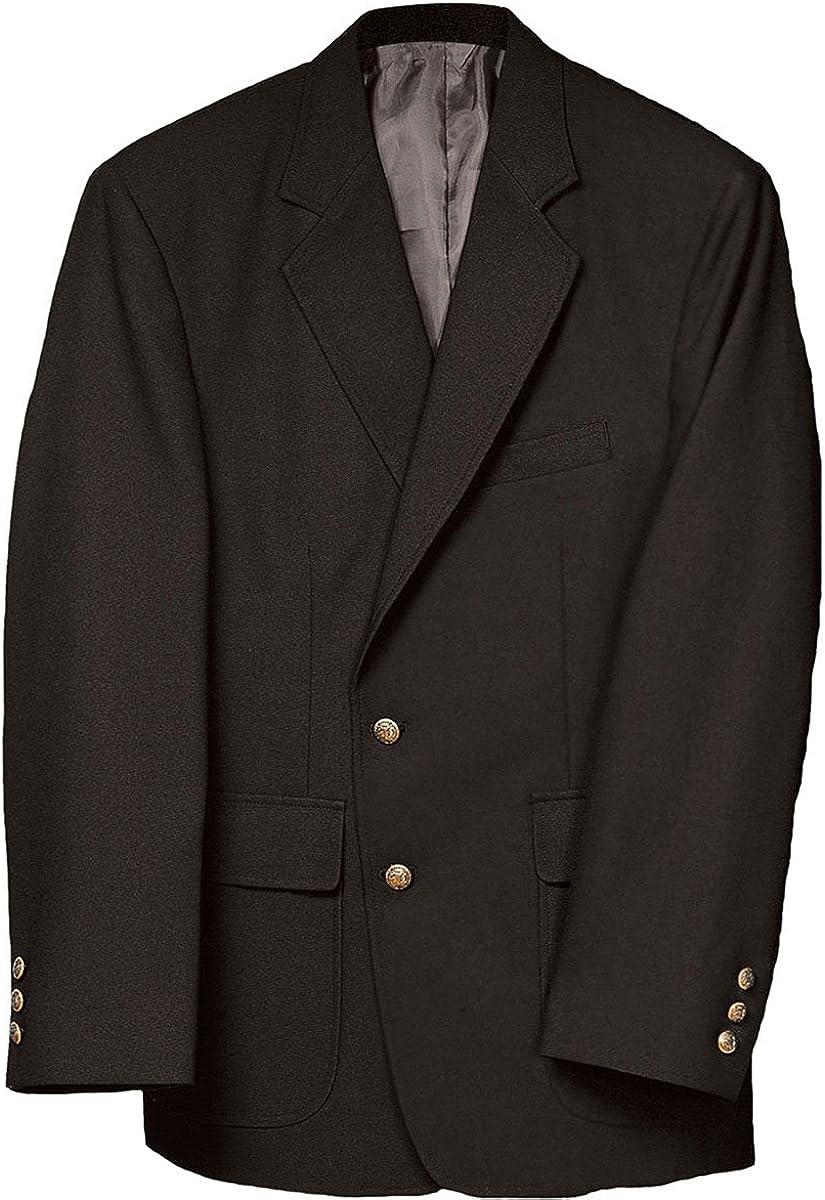 Edwards Garment Men's Classic Two Button Single Breasted Blazer, Black, 40