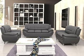 Amazon.com: Leather Living Room Sets