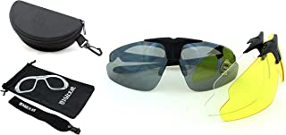 Sponsored Ad - Milcraft Sport Sunglasses Unisex Shooting Safety Glasses kit with Set of 3 Lenses