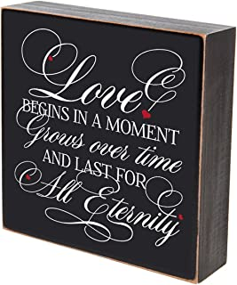 LifeSong Milestones Love Begins in A Moment Wedding for Couple, Gift Ideas for Mr. and Mrs. Love Shadow Box (Love Begins in a Moment)