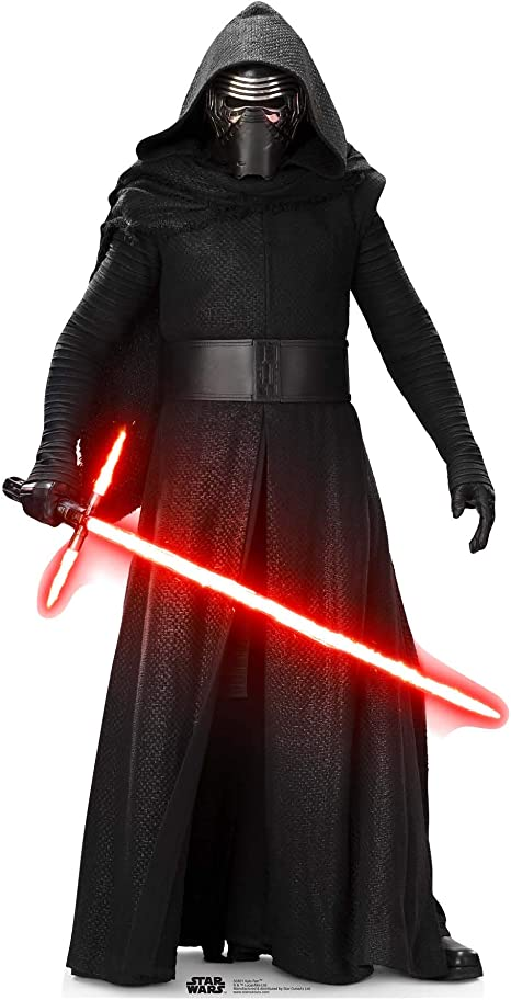 Amazon Com Star Cutouts Official Star Wars Kylo Ren Sw Tfa Lifesize Cardboard Cut Out Kitchen Dining