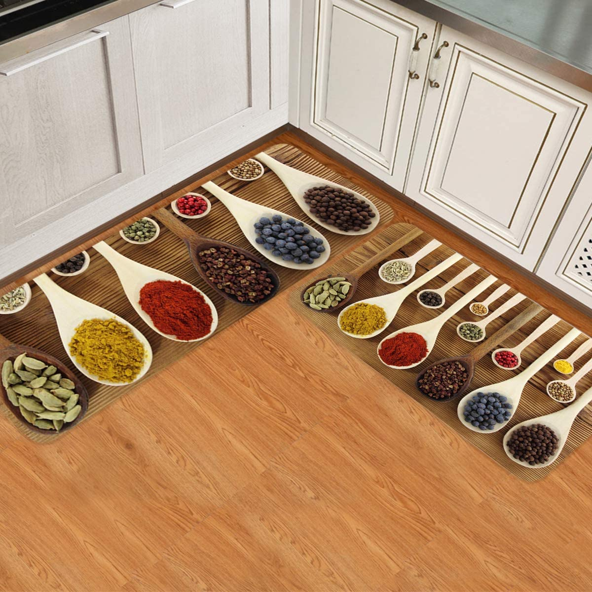 Gsypo Spices Kitchen Rugs Set 2 Colorful National products Shipping included Pieces in Woode