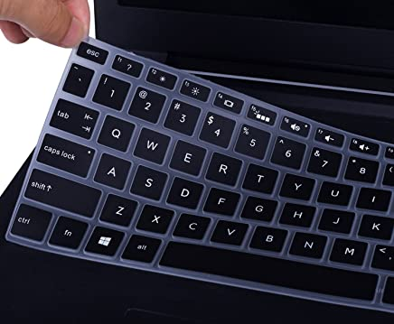 """Keyboard Cover for HP Envy x360 2-in-1 15.6"""" Laptop Series / 2019 2018 Newest HP Pavilion 15.6 Inch Series / 2019 2018 HP Envy 17.3"""" 17t 17M 17-BS 17-BW 17-CA0011NR Series Protective Skin, Black"""