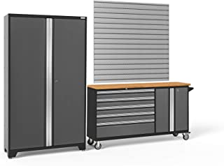 NewAge Products Bold Series 3.0 Gray 2 Piece Set, Garage Cabinets, 50687