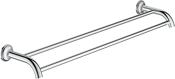 Grohe 40654001 Authentic Essentials Auth Double Towel Bar 582mm Polished Chrome