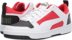 Puma White/Puma Black/High Risk Red/Garden Green