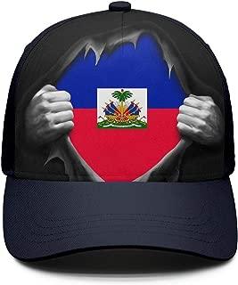 Haiti Flag Proud Haitian Mens Baseball Cap Snapback Dad Golf Hat for Men Women
