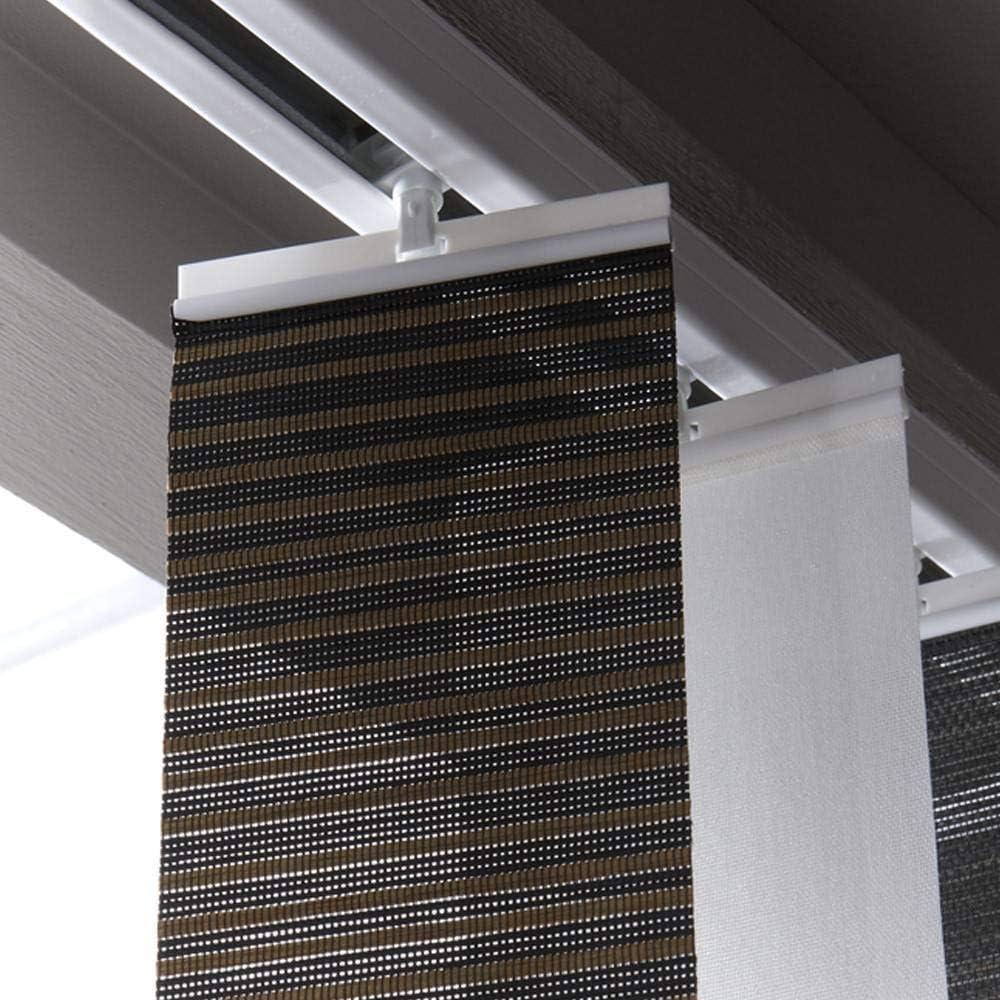 120 x 0cm Blanc madecostore Rail pour Lamelles Verticales Ouverture Lat/érale