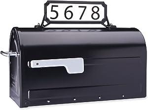 Architectural Mailboxes 3460B Manhattan Address Plaque, Small, Black