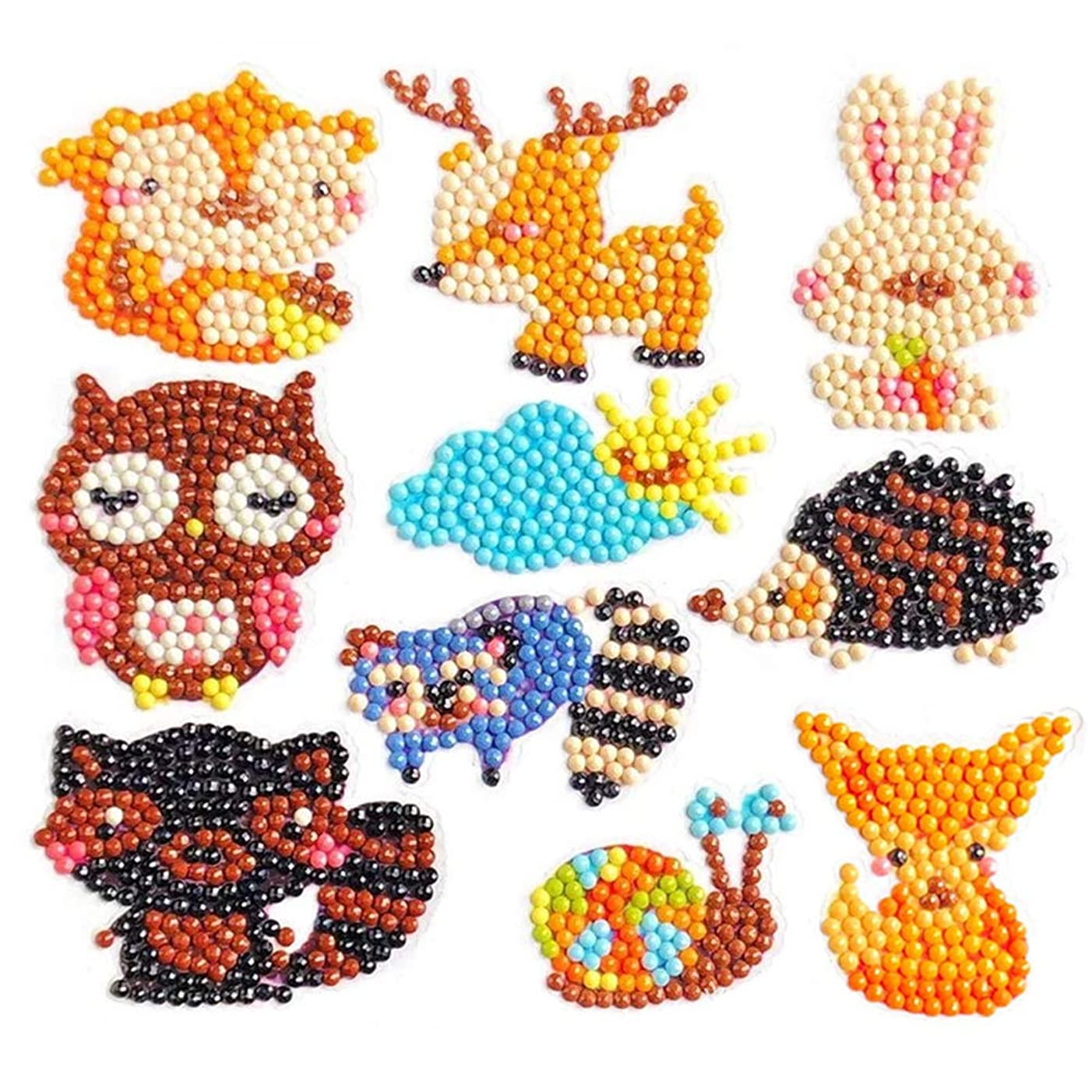 Lystin Diamond Painting Kits 5D DIY Diamond Dotz Kits Paint by Numbers Handmade Sticker Arts and Crafts Stick Paint with Diamonds for Kids and Adult Beginners (Animal Serial)
