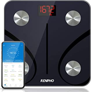 RENPHO Bluetooth Body Fat Scale, Digital Weight Scale Bathroom Smart Body Composition Analyzer Wireless BMI Scale Health M...