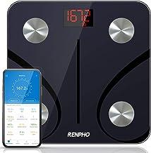 مقیاس چربی بدن بلوتوث RENPHO ، مقیاس وزن حمام دیجیتال مقیاس وزن آنالایزر ترکیبات هوشمند بدن بی سیم مقیاس BMI مقیاس سلامت با برنامه تلفن های هوشمند ، 396 پوند / 180 کیلوگرم