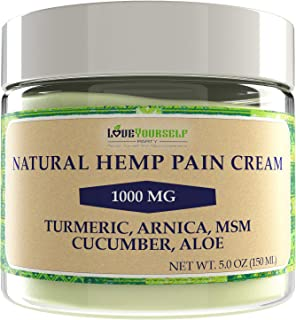 Hemp Cream for Pain Relief - Arnica Cream and Natural Turmeric, MSM, Emu Oil - XL 5 OZ Size - Effectively R...