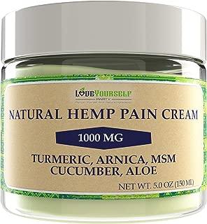 Pain Relief Cream Natural Arnica Hemp X-Large Size Turmeric Back, Neck MSM Montana Cucumber Aloe Emu Glucosamine