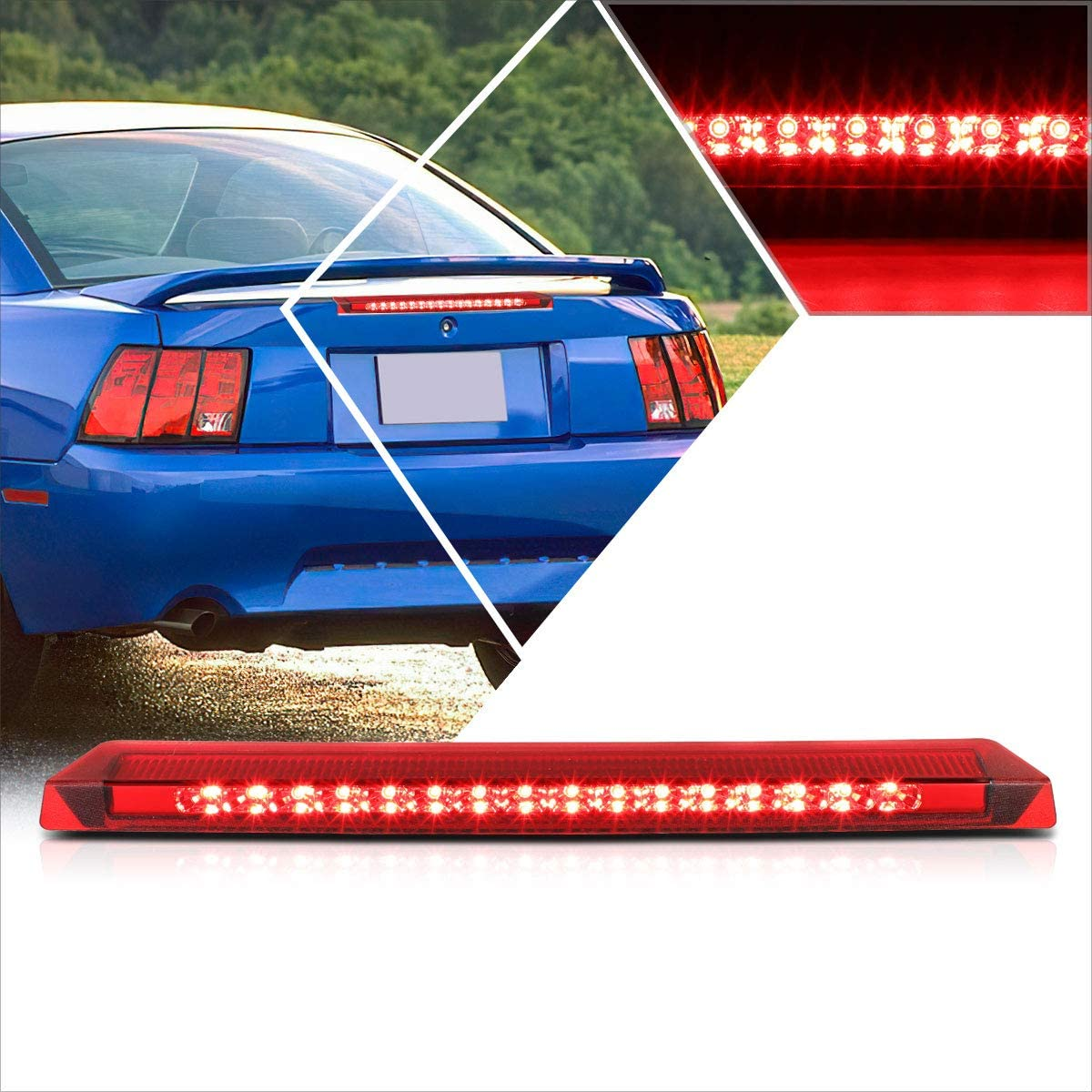 LED 3rd Third Brake Light Compatible Trust Mustang 99-04 Max 65% OFF Rea with Ford
