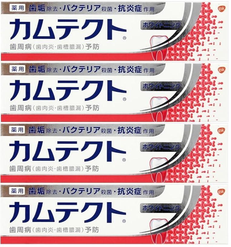 そう洗練された杭【まとめ買い】カムテクト ホワイトニング 歯周病(歯肉炎?歯槽膿漏) 予防 歯みがき粉 105g×4個