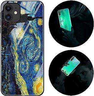 Funda iPhone 11 Pro, Luminosa Funda para iPhone 11 Pro, Carcasa con Dibujos Diseño Silicona TPU y PC Trasera Cristal Prote...