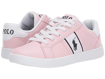 Polo Ralph Lauren Kids Quigley (Big Kid) (Light Pink Smooth/White/Navy/Navy Pony) Girl