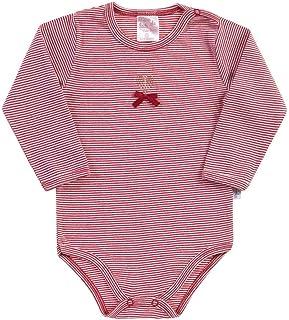 Body Listrado Groselha Bebê Menina Ribana 111031-1100
