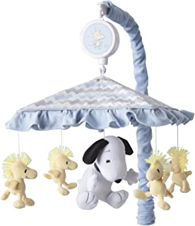 Lambs & Ivy My Little Snoopy Musical Baby Crib Mobile, Blue