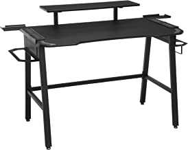 """RESPAWN 1010 Gaming Computer Desk, in Gray (RSP-1010-GRY), 23.625"""" D x 52.625"""" W x 34.625"""" H"""