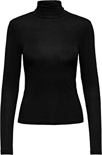 Only Onllela Life L/S Rollneck Top Noos Jrs Camiseta sin Mangas para Mujer