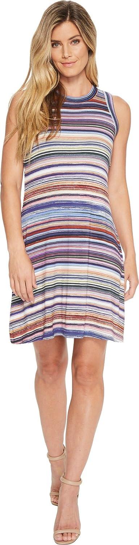 Karen Kane Womens Newport Stripe Halter Dress