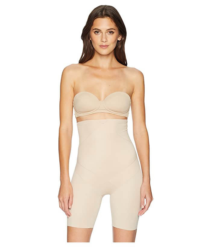 1920s Style Underwear, Lingerie, Nightgowns, Pajamas Miraclesuit Shapewear Tummy Tuck High-Waist Thigh Slimmer Nude Womens Underwear $56.95 AT vintagedancer.com