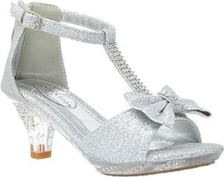 FUN.S Toddler//Little Kid//Big Kid Sweety Low Heel Dress Pump Sandals Open Toe Sandals