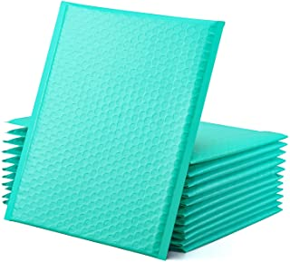 GSSUSA Teal Poly Bubble Mailers 8.5x12 Self-Seal Packaging Bags, Small Business Supplies, Padded Envelopes, Bubble Envelop...