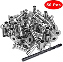 Kelife 50 PCS Stainless Steel Protector Sleeves Grommet for 1/8