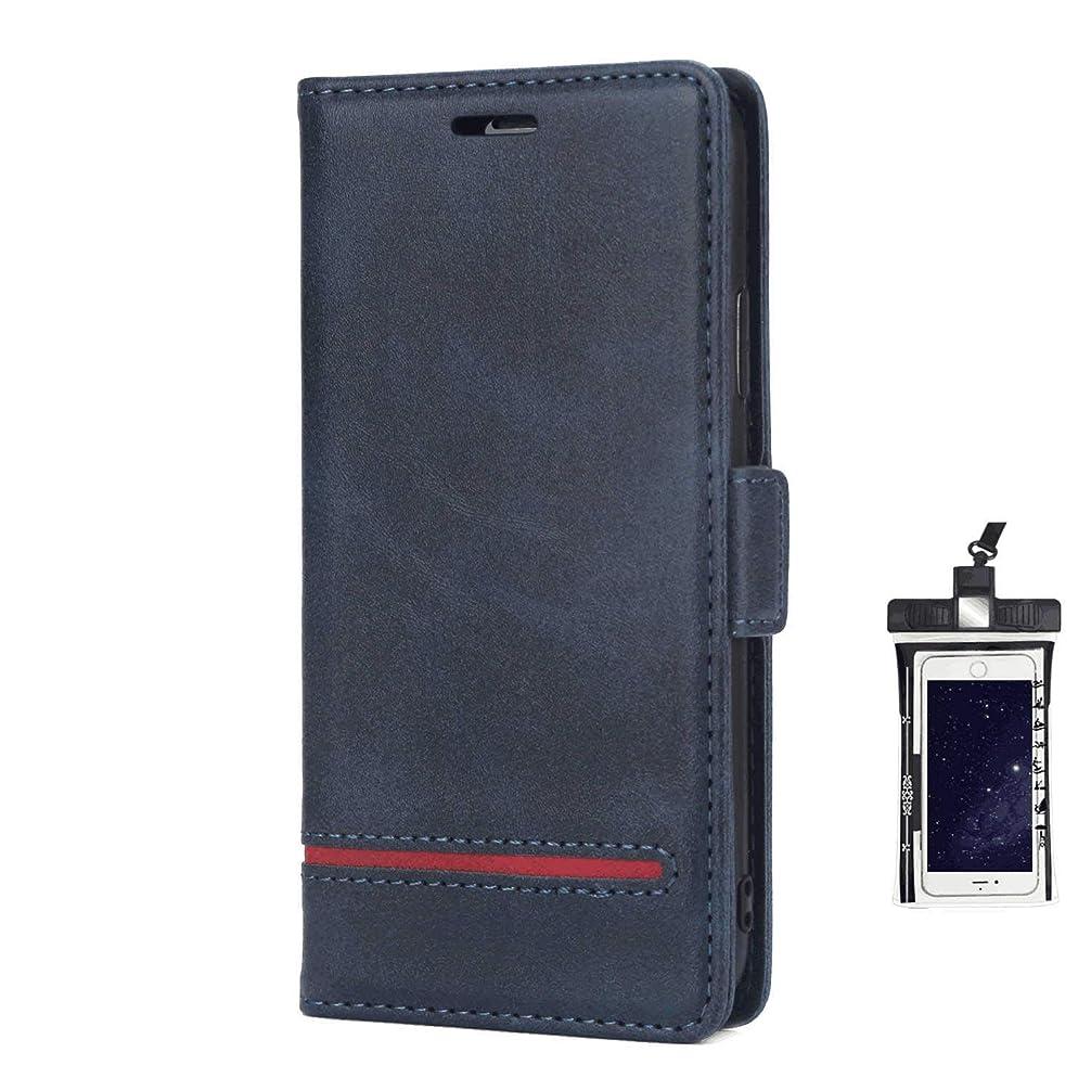 ミトン車両特許全面保護 手帳型 iPhone X ケース 本革 レザー スマホケース スマートフォン ポーチ 財布 カバー収納 保護ケース, 無料付防水ポーチケース
