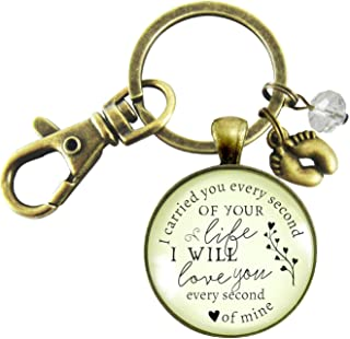 Miscarriage Keychain I Carried You Every Second Of Your Life Baby Loss Remembrance Keepsake Key Ring Baby Feet Charm