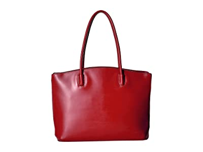 Lodis Accessories Audrey RFID Milano Tote With Laptop Pocket (Red RFID) Tote Handbags