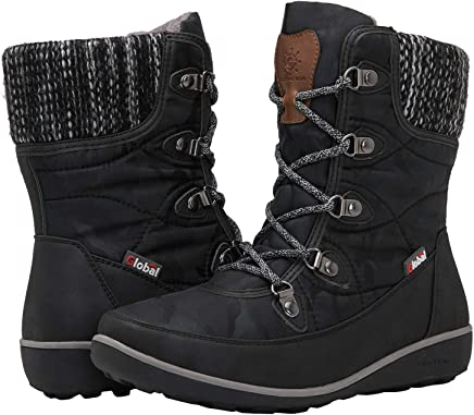 GLOBALWIN Women's 1839 Winter Snow Boots