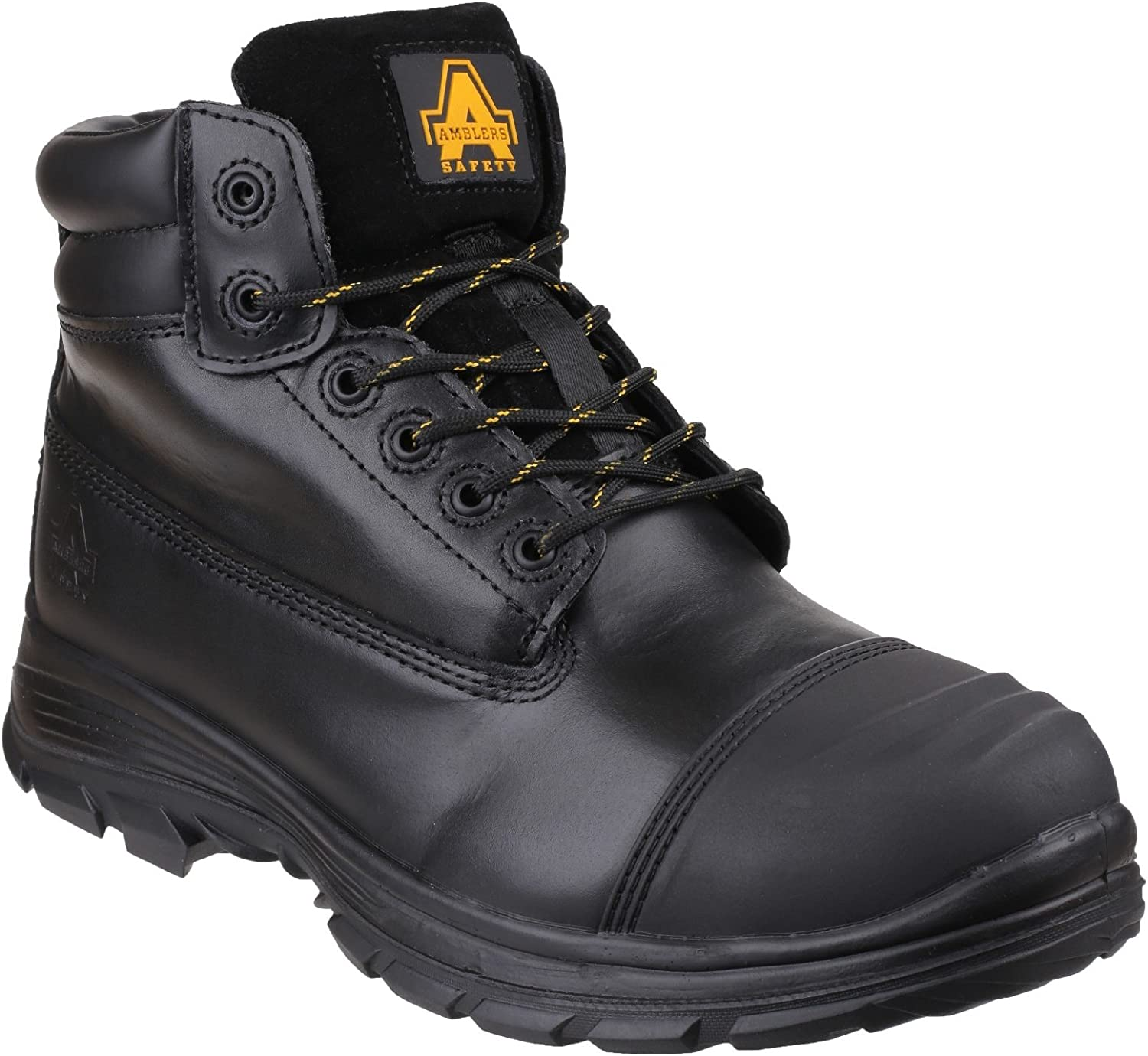 Amblers Safety Mens FS301 Brecon Water Resistant Metatarsal Guard Lace Up Safety Boot Black Size UK 10 EU 44