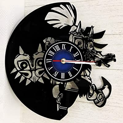 7bce138f74 The Legend of Zelda Wall Clock Made from 12 inches / 30 cm Vintage Vinyl  Record