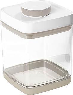 真空保存容器セビア ペットフード・コーヒー豆・お米等の酸化・虫害対策に (2.4L(ドライフード約800g~1kg), ベージュ)