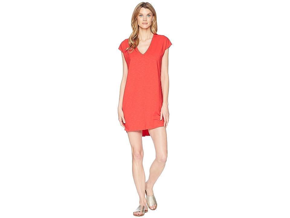 Lilla P V-Neck Dress (Cherry) Women