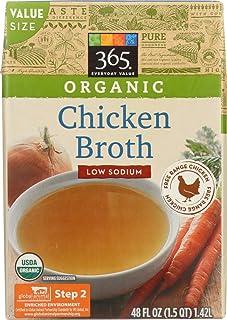 365 Everyday Value, Organic Low Sodium Chicken Broth - Value Size, 48 oz