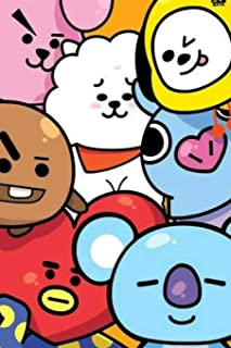 KPOP CUTE BT21 BTS CHARACTER Notebook FOR ARMYs and KNETz: College Ruled Composition School and Personal Journal 6x9in for Girls, Students and Fans