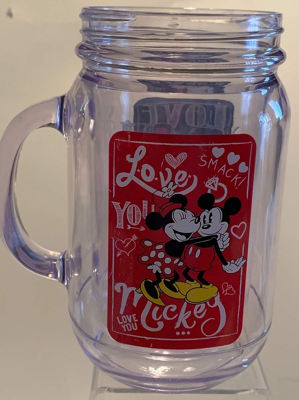 New item Plastic Mickey Minnie Mason Sale price No Jar Lid Drinking