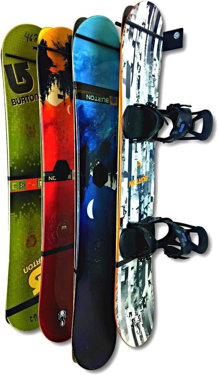 StoreYourBoard Heavy-Duty Snowboard Storage Rack, Holds (8) Snowboards, Vertical Wall Mount Hanger, Indoor Home Garage Hooks Metal Organizer : Sports & Outdoors