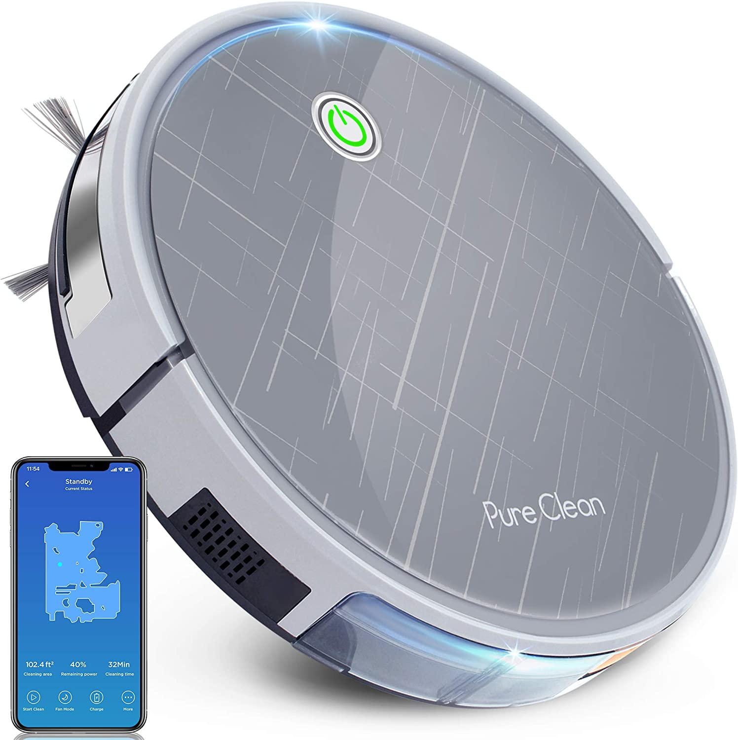 PureClean Robotic Vacuum Cleaner - It is very popular Mobile Suction Direct store WiFi 2700Pa