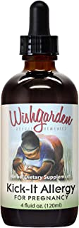 WishGarden Herbs - Kick-It Allergy for Pregnancy, Natural Immune Support, Natural Remedy for Seasonal Discomforts (4 oz Dr...