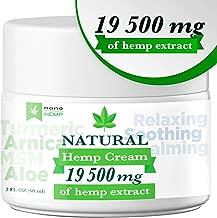 Organic Hemp Pain Relief Cream with Arnica, Aloe, 19 500 Mg