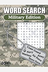 Word Search – Military Edition: Large Print Word Find Puzzles For Adults Paperback