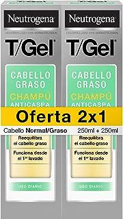 Neutrogena Champú TGel Cuidado del Cabello Normal Graso 2 x 250 ml
