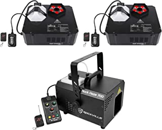 (2) Chauvet DJ GEYSER P5 DMX Fog Machines Foggers, RGBA+UV LED Effects+Hazer